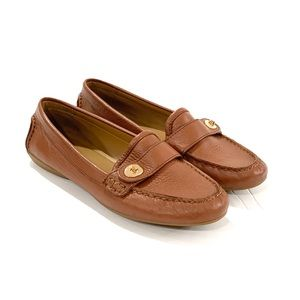 Coach flash loafers 7.5 tan brown leather flats
